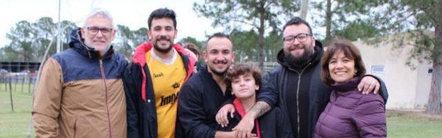 De derecha a izquierda. Viviana, Juan, Joaquin, Ignacio, José Augusto y José